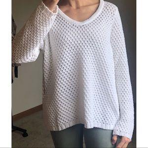 NWT🔖 WHITE + WARREN Stitch Soft V-Neck